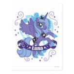 Luna con la voluta tarjeta postal