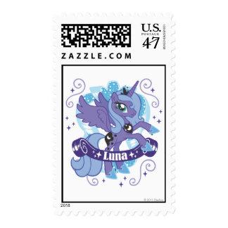 Luna con la voluta timbres postales