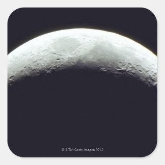 Luna creciente pegatinas cuadradases