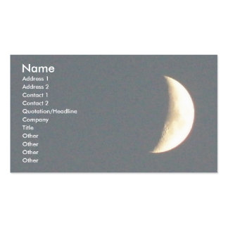 Luna creciente que encera hermosa en el tarjetas de visita