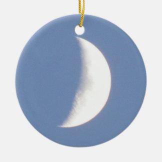 Luna creciente que encera hermosa en personalizado adornos de navidad