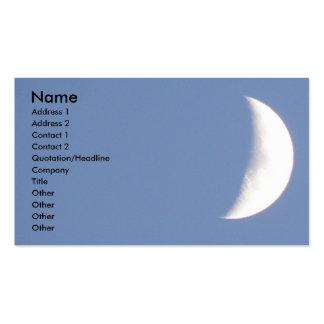 Luna creciente que encera hermosa en personalizado tarjetas de visita