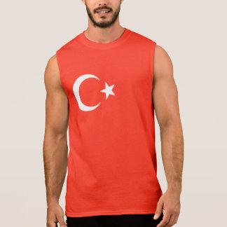 Luna creciente y estrella de la bandera turca playera sin mangas