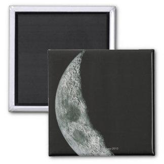 Luna cuarta imán cuadrado
