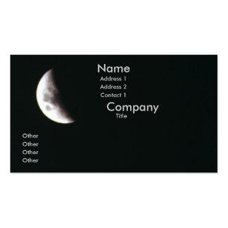Luna cuarta plantillas de tarjetas de visita
