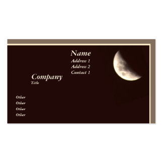 Luna cuarta plantilla de tarjeta de visita