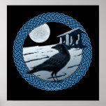 Luna, cuervo y impresiones y posters célticos del