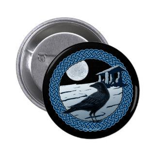 Luna, cuervo y pernos y botones célticos del dolmá pins