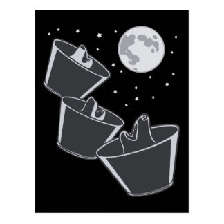 Luna de 3 lobos del mascota tarjetas postales