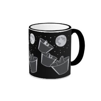 Luna de 3 lobos del mascota tazas de café