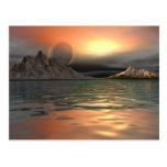 Luna de Antartica Tarjetas Postales