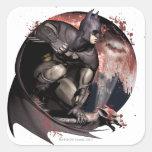 Luna de Batman de la ciudad de Arkham Calcomanías Cuadradass