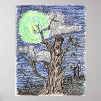 Luna de cosecha de Wendy C Allen Posters