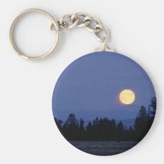 Luna de cosecha del cielo Wyoming Llavero Personalizado