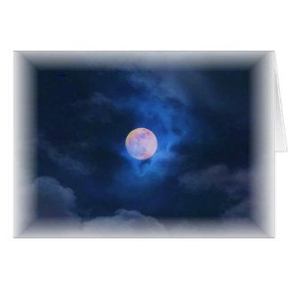 Luna de cosecha tarjeta de felicitación
