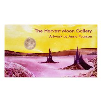 Luna de cosecha, tarjeta de visita