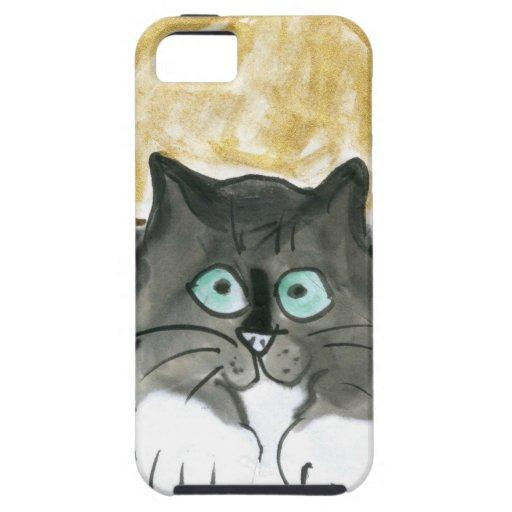 Luna de cosecha y gato del smoking iPhone 5 Case-Mate coberturas