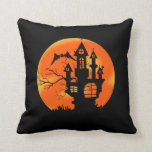 Luna de Halloween Almohada
