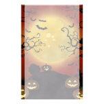 Luna de Halloween, calabazas y librero fantasmagór Papeleria