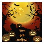 Luna de Halloween, calabazas y palos fantasmagóric Comunicados Personales