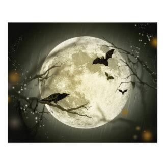 Luna de Halloween Flyer Personalizado