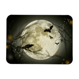 Luna de Halloween Imán Rectangular
