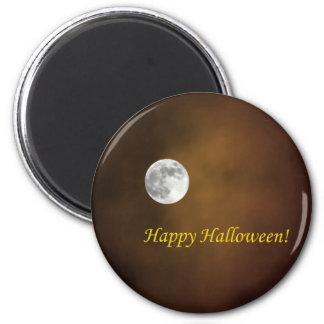 Luna de Halloween Imán Redondo 5 Cm