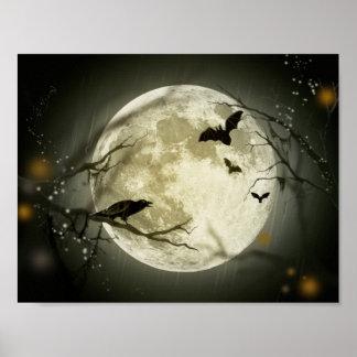 Luna de Halloween Impresiones