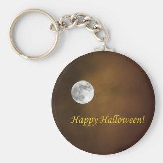 Luna de Halloween Llavero Redondo Tipo Pin