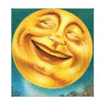 Luna de Halloween Lona Estirada Galerías