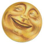 Luna de Halloween Plato De Cena