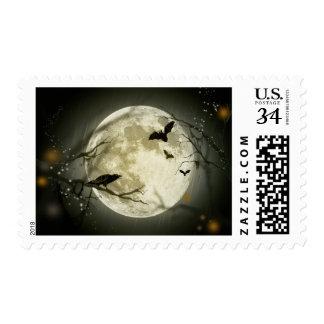Luna de Halloween Sello Postal