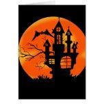 Luna de Halloween Tarjeta