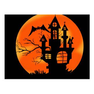 Luna de Halloween Postal