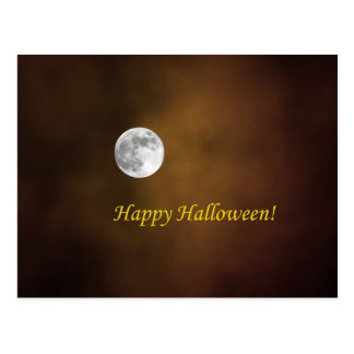 Luna de Halloween Tarjetas Postales
