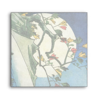 Luna de Hiroshige sobre una bella arte del japonés