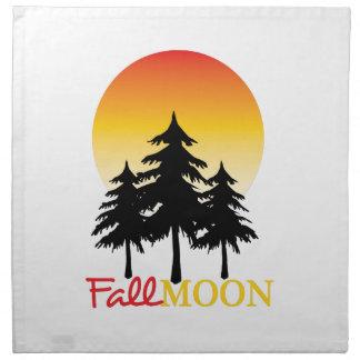 Luna de la caída servilleta
