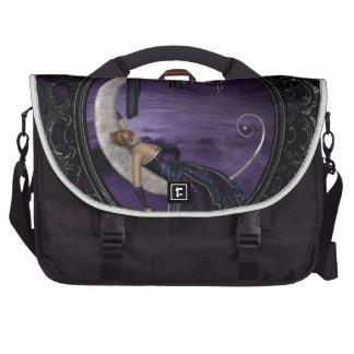 Luna de la lavanda bolsas para portatil