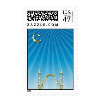 Luna de la mezquita del Ramadán Sello Postal