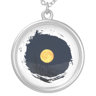 Luna de la montaña colgante redondo