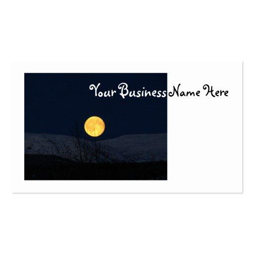 Luna de la montaña tarjetas de visita