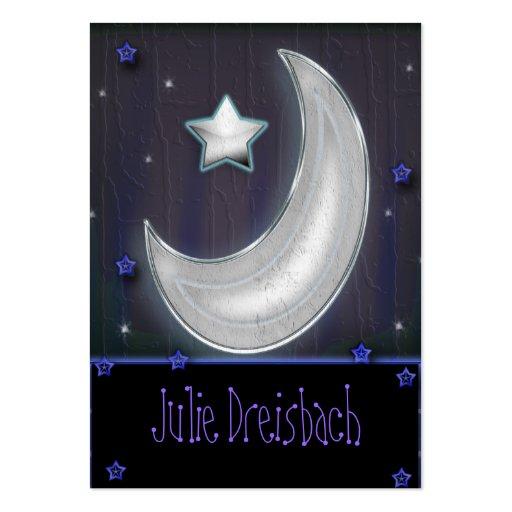 luna de la noche tarjetas de visita grandes