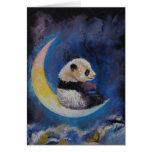 Luna de la panda tarjeta