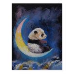 Luna de la panda tarjeta postal
