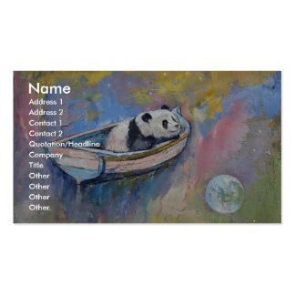 Luna de la panda tarjetas de visita