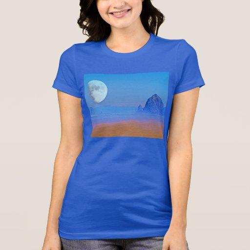 Luna de la playa del cañón camiseta