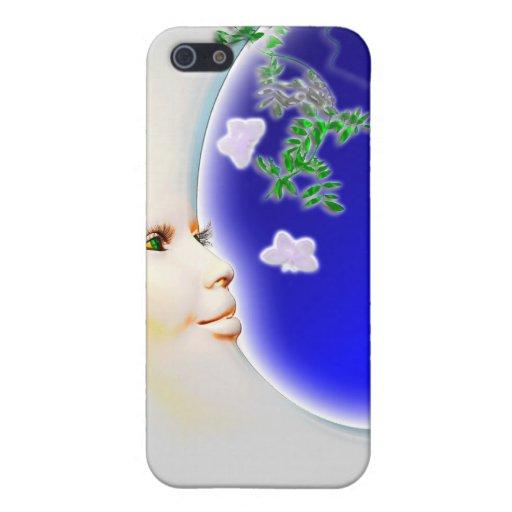Luna de la primavera - caja de la mota del iPhone iPhone 5 Carcasa