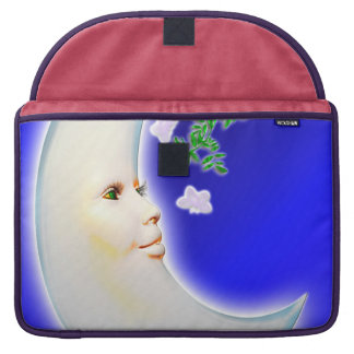 Luna de la primavera - manga de la aleta del iPad  Fundas Para Macbooks