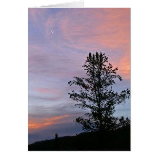 Luna de la salida del sol en Yellowstone Tarjeta De Felicitación