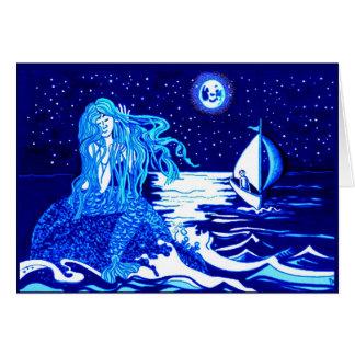 Luna de la sirena tarjeta